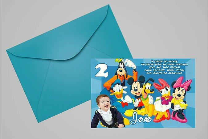 Convite 10x15 Turma do Mickey 002 com foto