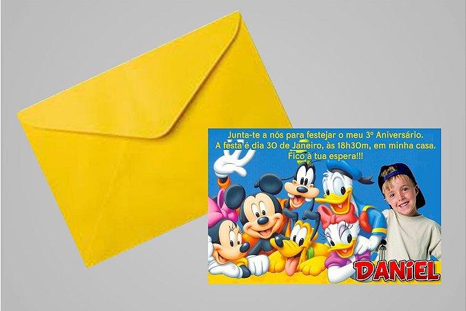 Convite 10x15 Turma do Mickey 010 com foto
