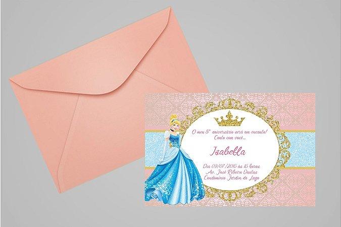 Convite 10x15 Cinderela 001