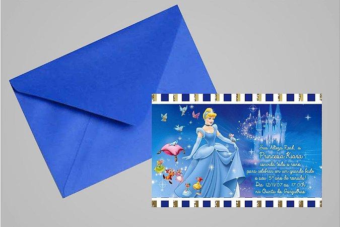 Convite 10x15 Cinderela 004
