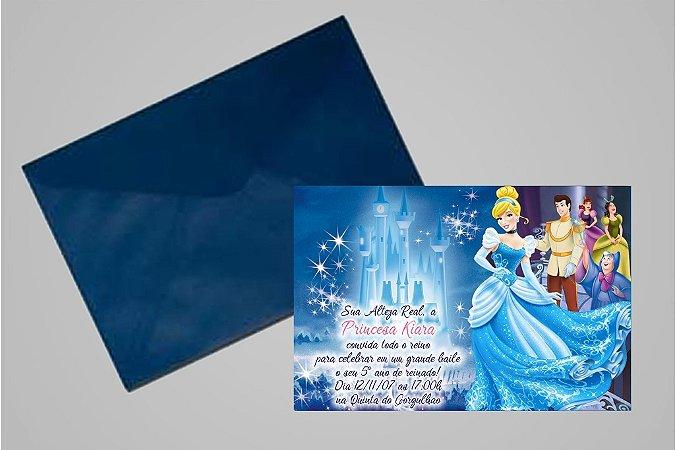 Convite 10x15 Cinderela 007