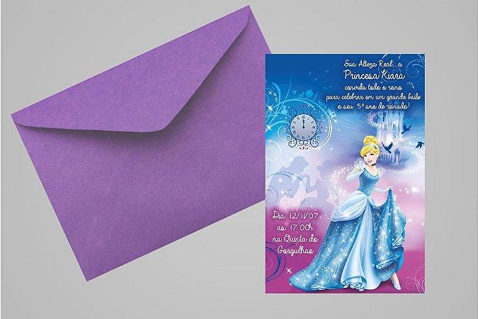 Convite 10x15 Cinderela 008