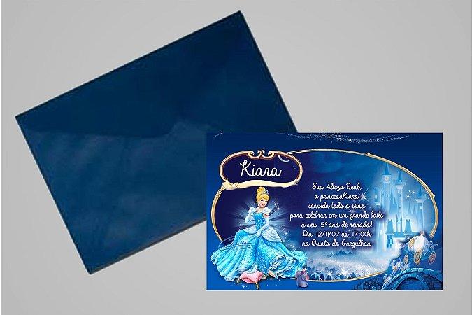 Convite 10x15 Cinderela 011