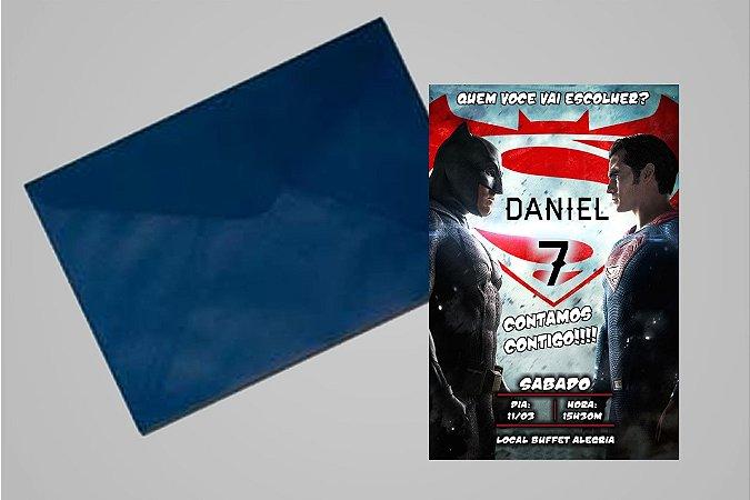 Convite 10x15 Batman Vs Superman 005