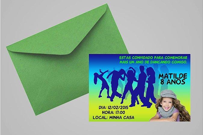 Convite 10x15 Zumba 002 com foto