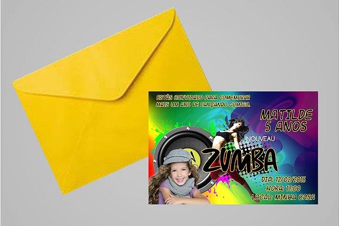 Convite 10x15 Zumba 003 com foto