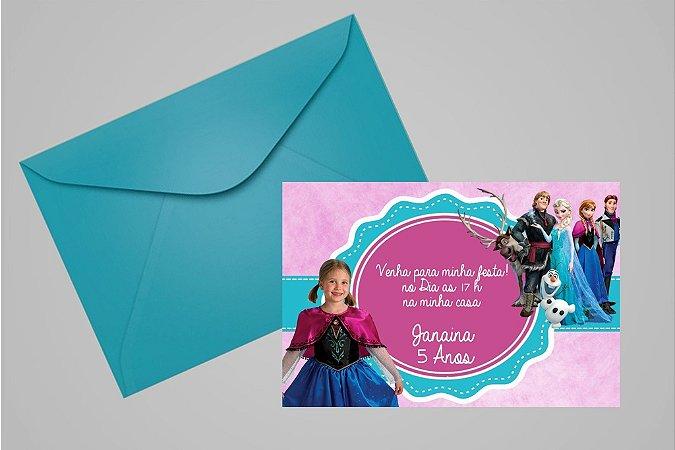 Convite 10x15 Frozen 002 com foto