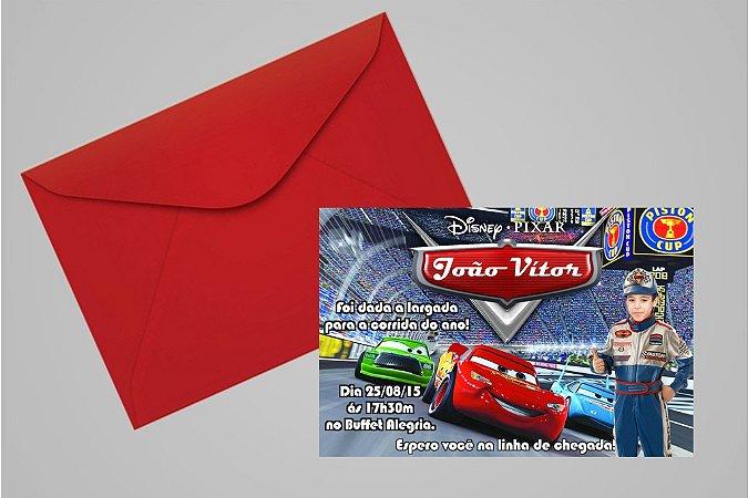 Convite 10x15 Carros da Disney 004 com foto