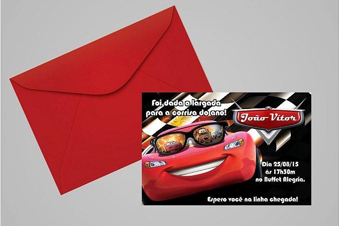 Convite 10x15 Carros da Disney 010