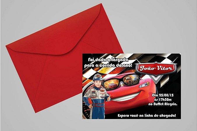 Convite 10x15 Carros da Disney 010 com foto