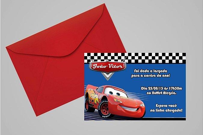 Convite 10x15 Carros da Disney 012