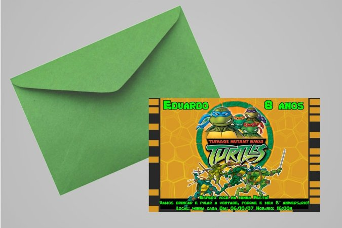 Convite 10x15 Tartarugas Ninja 002