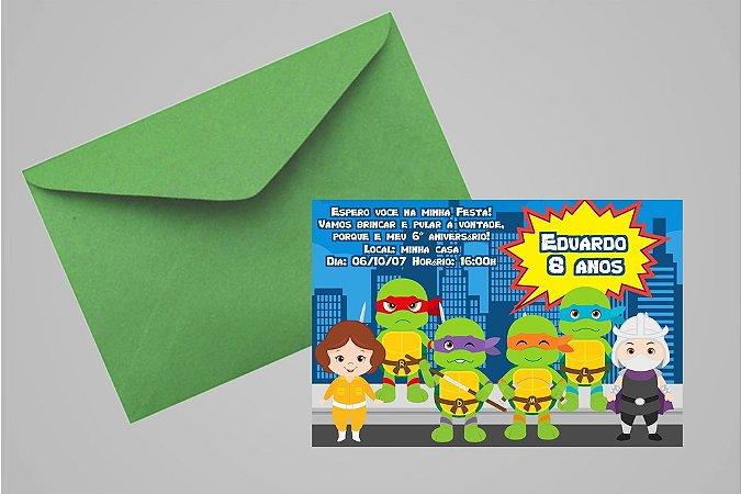 Convite 10x15 Tartarugas Ninja 004
