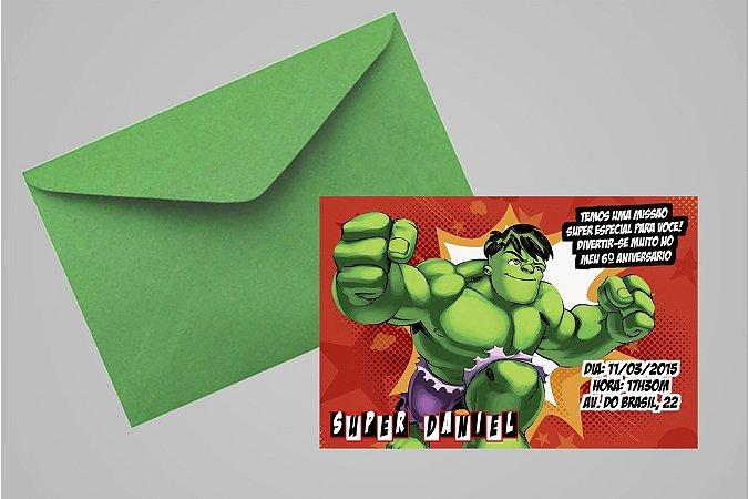 Convite 10x15 O Incrível Hulk 003