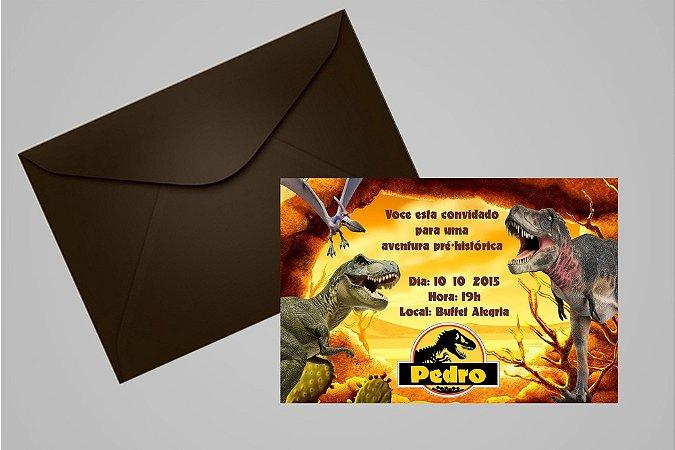 Convite 10x15 Dinossauros 006