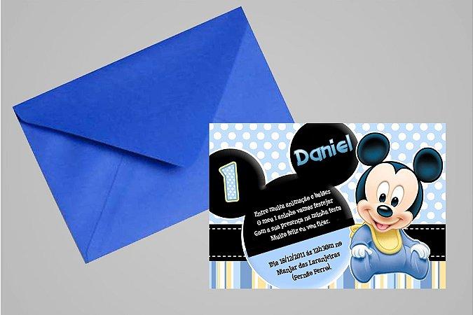 Convite 10x15 Baby Disney 014