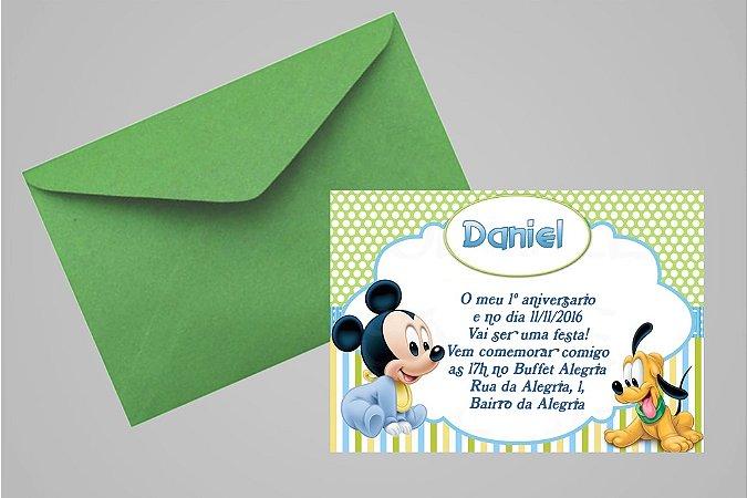 Convite 10x15 Baby Disney 015