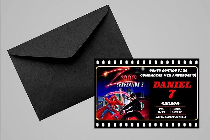 Convite 10x15 Zorro 001