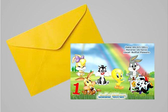 Convite 10x15 Baby Looney Tunes 011