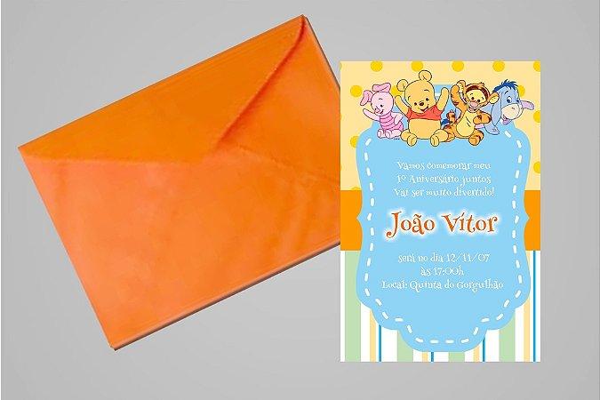 Convite 10x15 Baby Pooh 005