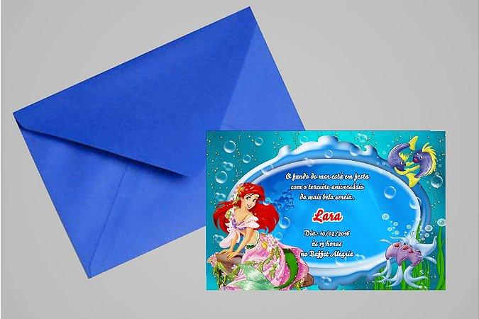 Convite 10x15 Pequena Sereia 015