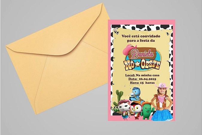 Convite 10x15 A Xerife Callie no Oeste  007 com foto