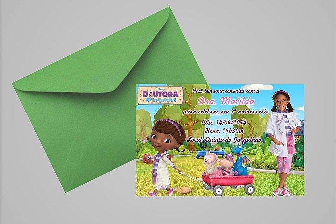 Convite 10x15 Doutora Brinquedos 002  com foto