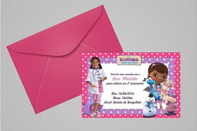 Convite 10x15 Doutora Brinquedos 005 com foto
