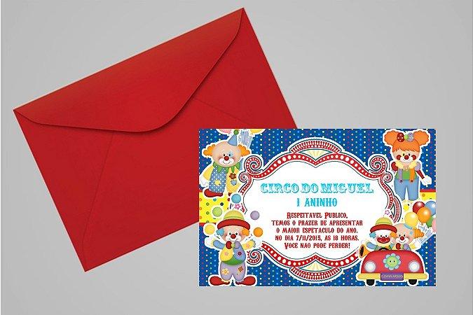 Convite 10x15 Circo 005