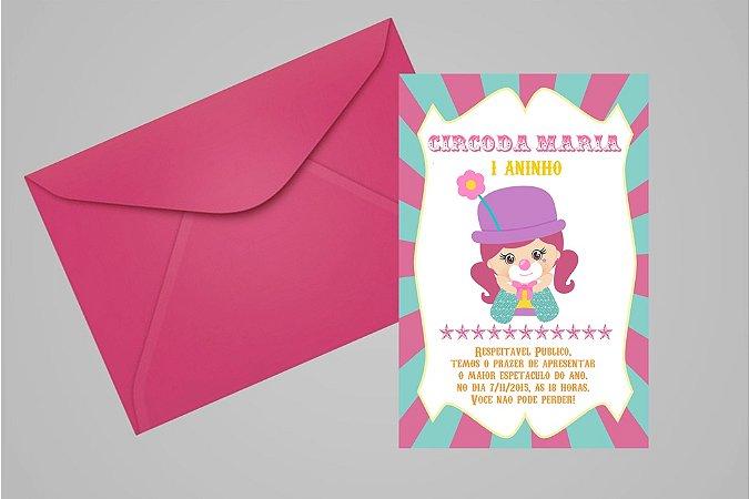 Convite 10x15 Circo 007