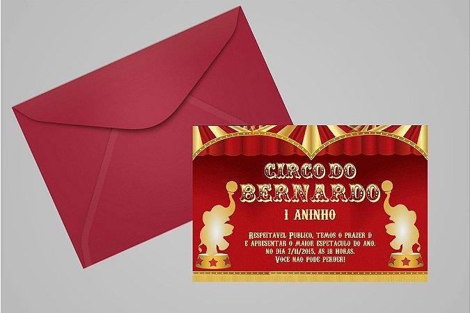 Convite 10x15 Circo 014
