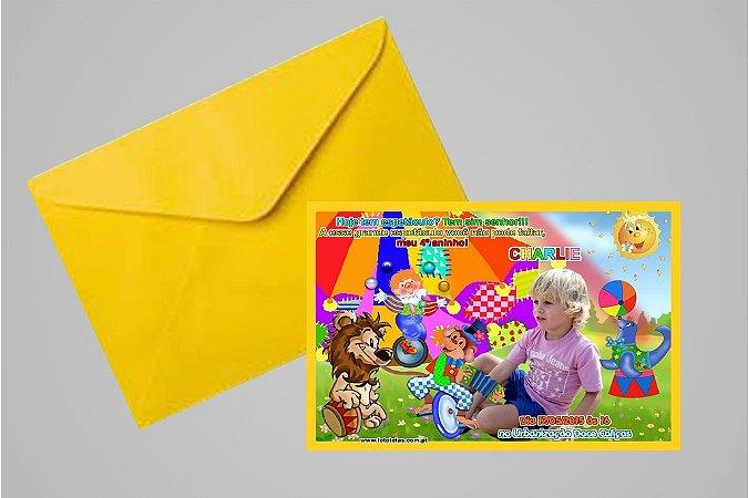 Convite 10x15 Circo 016 com foto