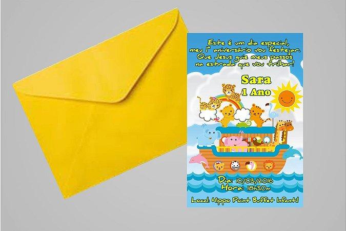 Convite 10x15 Arca de Noé 002