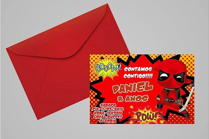 Convite 10x15 Deadpool 003