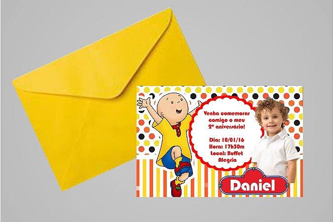 Convite 10x15 Caillou 003 com foto