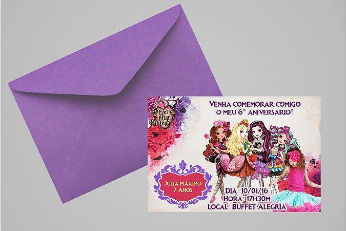 Convite 10x15 Ever After High 002 com foto