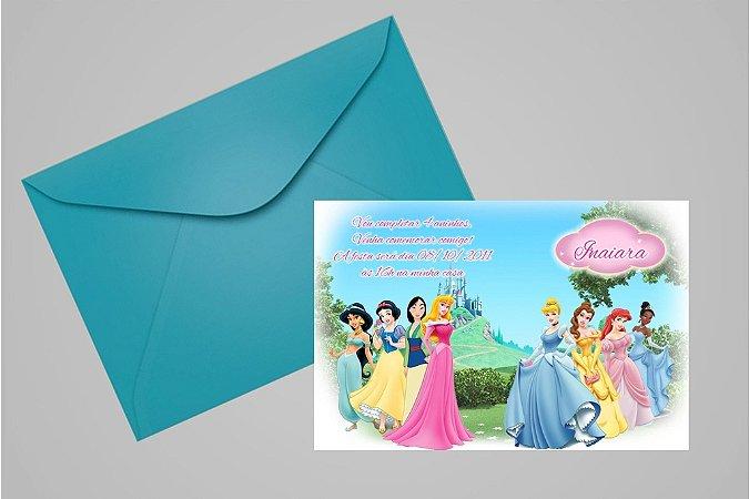 Convite 10x15 Princesas Disney 014