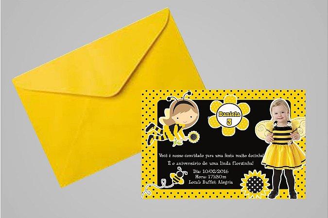 Convite 10x15  Abelhas 003 com foto
