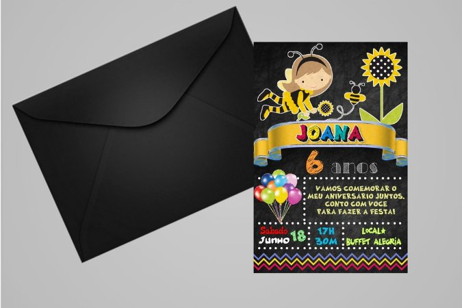 Convite 10x15  Abelhas 015