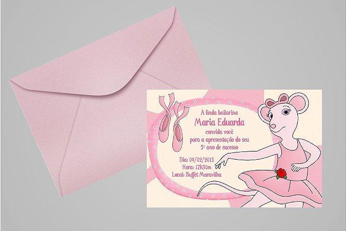 Convite 10x15 Angelina Bailarina 003