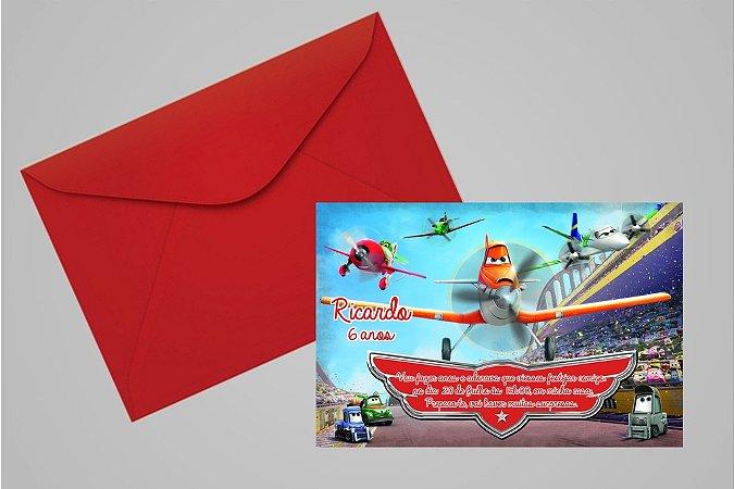 Convite 10x15 Aviões da Disney 004