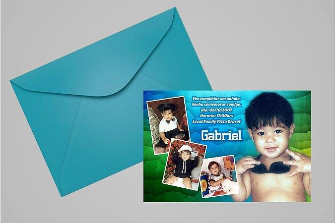 Convite ou foto lembrança 10x15 Aniversário sem tema 017