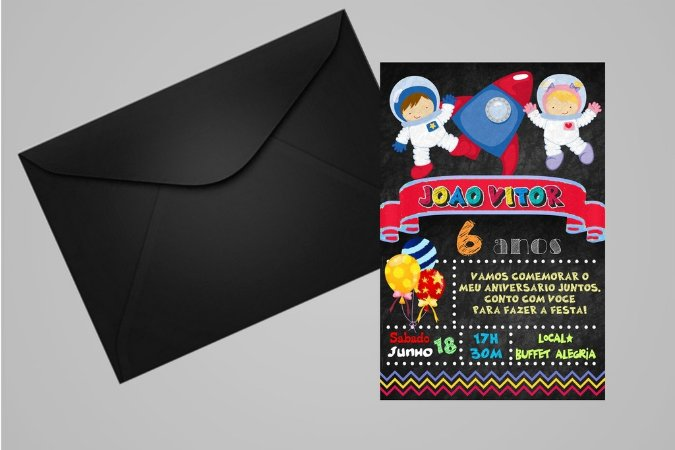 Convite 10x15 Astronauta 001