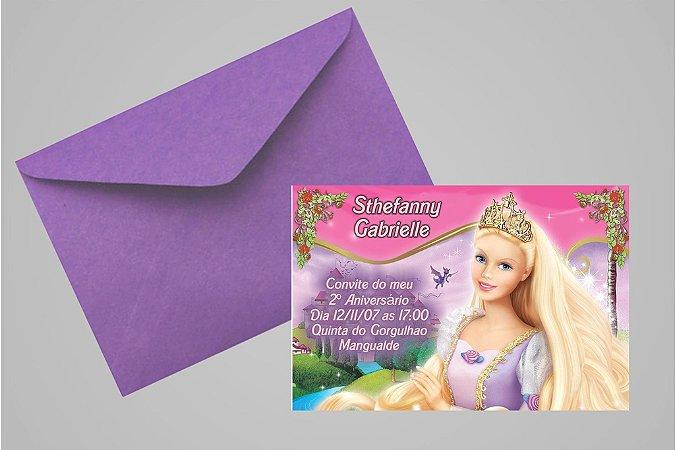 Convite 10x15 Barbie 013
