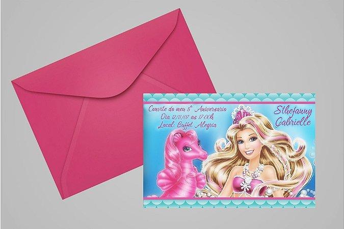 Convite 10x15 Barbie 027