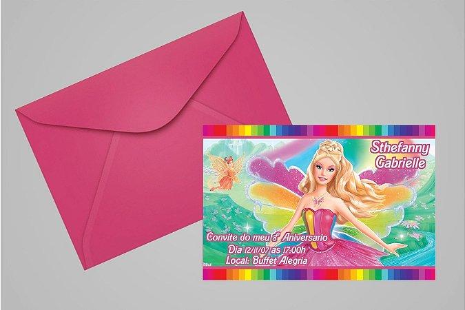 Convite 10x15 Barbie 029