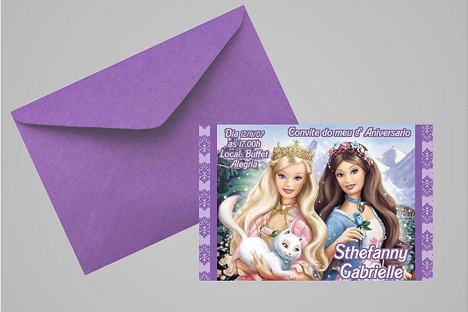 Convite 10x15 Barbie 032