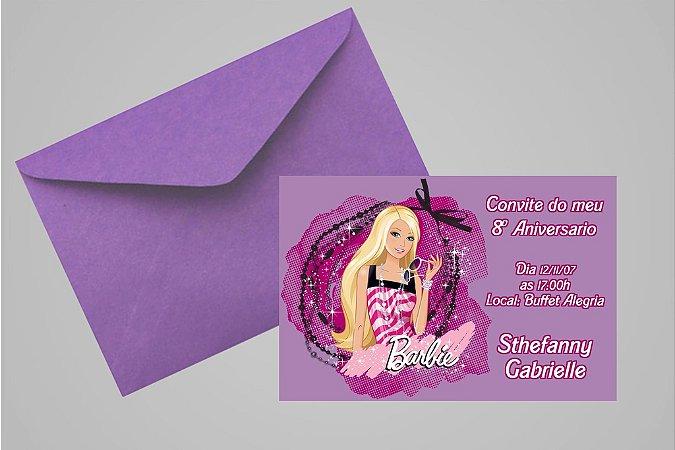 Convite 10x15 Barbie 040
