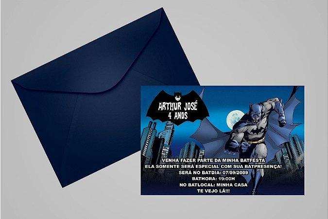 Convite 10x15 Batman 001