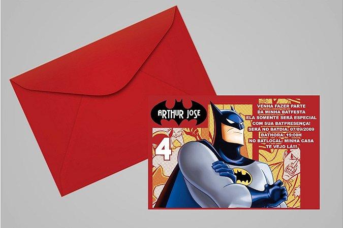 Convite 10x15 Batman 008